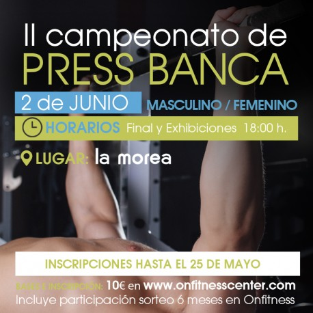 Campeonato press banca masculino